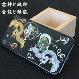 [Thunder & Wind Gods & Dragons] Completed iPhone Case Japanese Traditional pattern - JAPANESE GIFTS