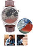 Maki-e Watch Hokusai's Great Wave off Kanagawa / Fine Wind Clear Morning (Free Shipping) - JAPANESE GIFTS