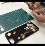[Rabbit & Moon & Maple] iPhone Case DIY kit Japanese Traditional Pattern - JAPANESE GIFTS