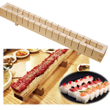 Easy OSHIZUSHI Pressed Sushi Mold 16 pc. Cut HINOKI Wood YAMACO - JAPANESE GIFTS