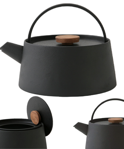 tetu Japanese Cast Iron Kettle  TETSUBIN NAMBU Modern Design IH use OK