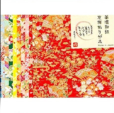 YUZEN Japanese ORIGAMI Paper 10 Sheet Patterns 14 x 14 cm World Heritage Quality - JAPANESE GIFTS