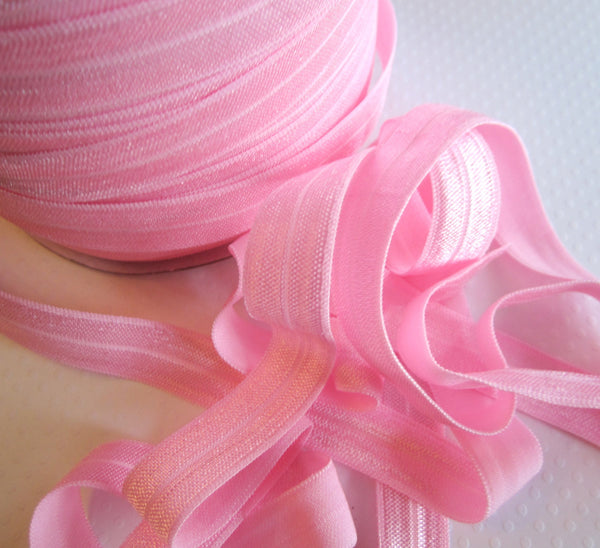 "5/8"" Pink Fold Over Elastic"