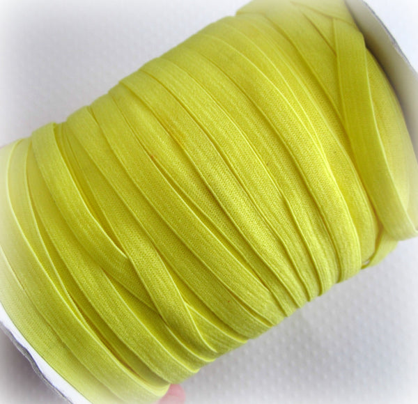 "1/4"" Bright Yellow Elastic"