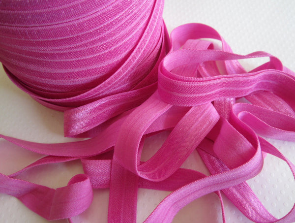 "5/8"" Raspberry Pink Fold Over Elastic"
