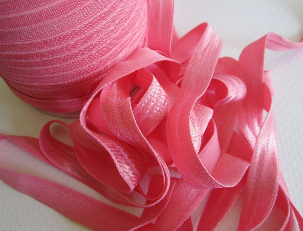 "5/8"" Coral Fold Over Elastic"