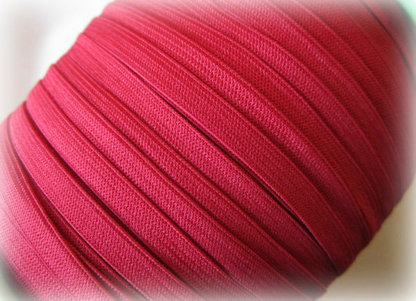 "1/4"" Dark Red Elastic"