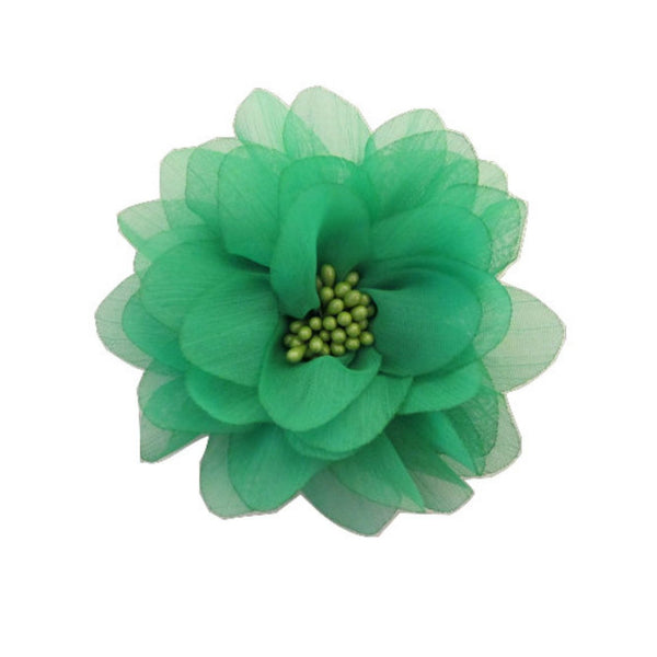 Green Chiffon Flower. Isla Collection