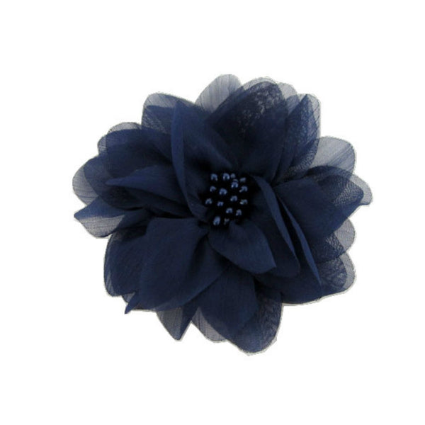 Navy Chiffon Flower. Isla Collection