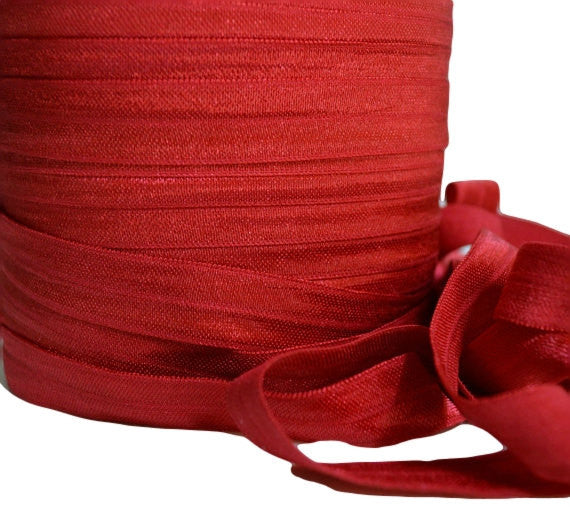 "5/8"" Dark Red Fold Over Elastic"