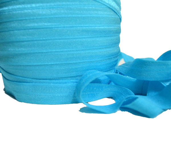 "5/8"" Turquoise Fold Over Elastic"