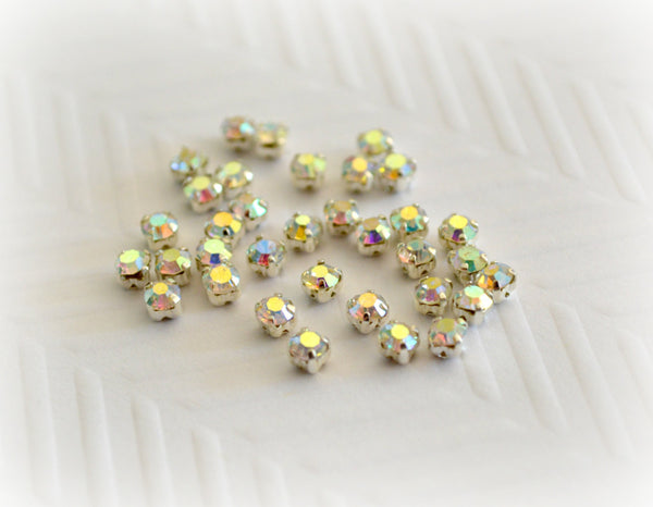 2mm Sew on AB Rhinestones
