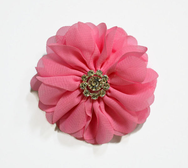 "3"" Pink Chiffon Flower. ~Brea Collection"