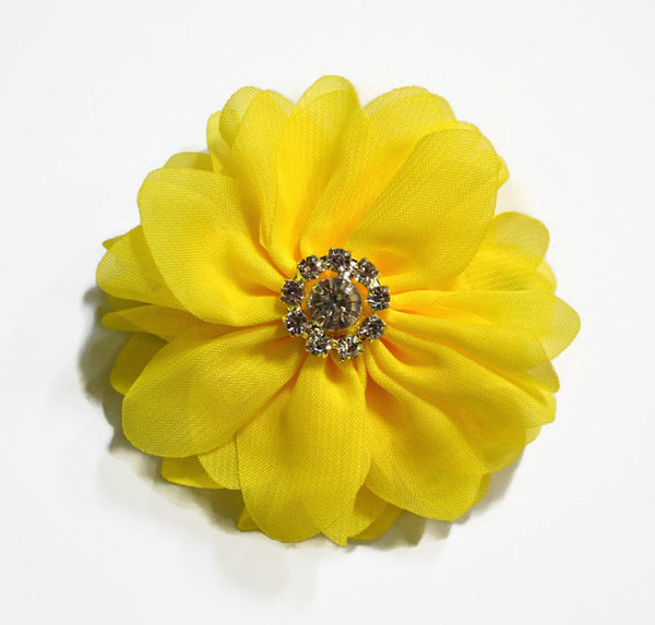 "3"" Yellow Chiffon Flower. ~Brea Collection"