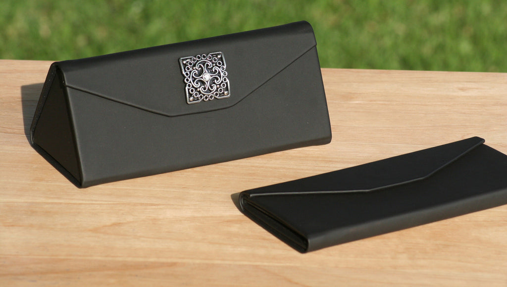 fc64fd1d7ba Protective Hard Case for Eyewear - Square Crystal Scroll Embellishment