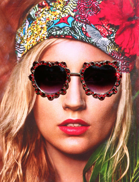 Heart Shaped Ruby Hippie Sunglasses