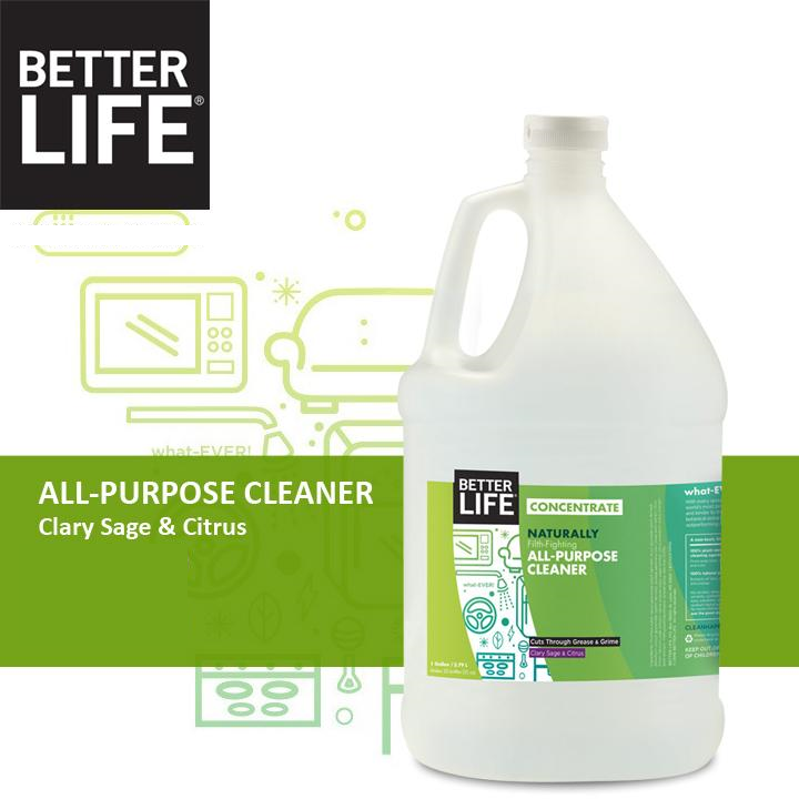 BETTER LIFE NATURAL ALL-PURPOSE CLEANER TACKLES DIRTY MICROWAVE CLEANING