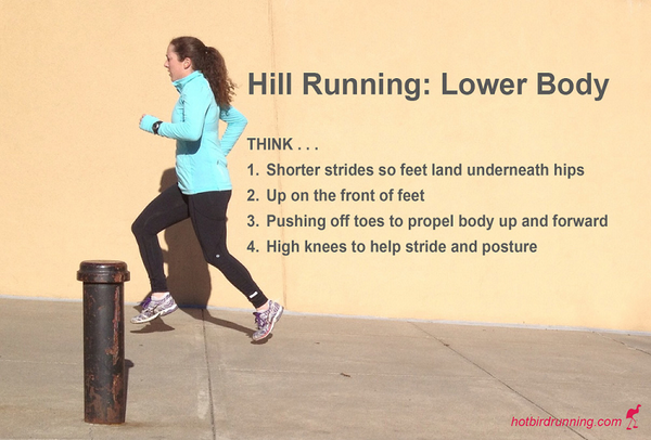 Tip on running on a hill