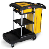RUBBERMAID - HIGH CAPACITY CLEANING CART, BLACK