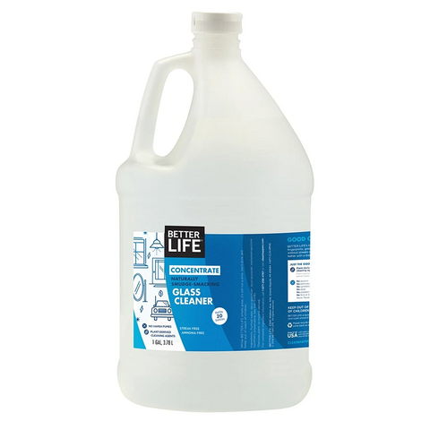 GLASS CLEANER CONCENTRATE, Scent-Free, 3.78L/1GAL - Eco Friendly Cleaning Products