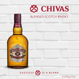 CHIVAS REGAL - aged 12 years blended scotch whisky (40% alc/vol)