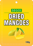 DRIED MANGO Slices 100 bags x 100 grams (10 Kilo)