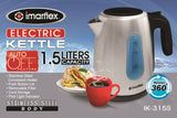 Imarflex Stainless Steel Electric Kettle 1.5 Liters IK-315S
