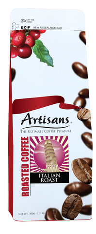 Artisans ITALIAN ROAST 500 grams Beans/Ground
