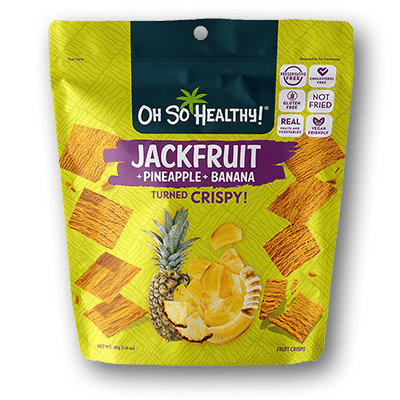 Oh So Healthy! Crisps - JACKFRUIT PINEAPPLE BANANA (24 packs/case) 40g
