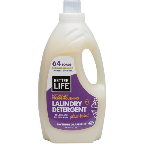 LAUNDRY DETERGENT, Lavender & Grapefruit, 64oz/ 1893ml - Eco Friendly Cleaning Products
