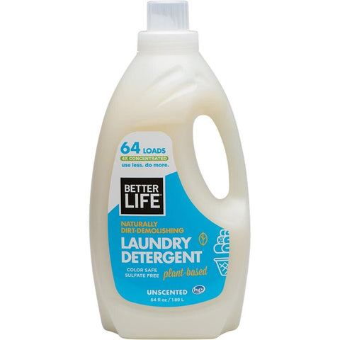 LAUNDRY DETERGENT, Scent-Free, 64oz/ 1893ml - Eco Friendly Cleaning Products