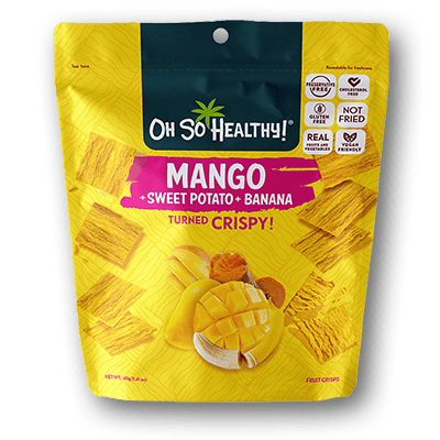 Oh So Healthy! Crisps - MANGO SWEET POTATO BANANA 24 x 40g