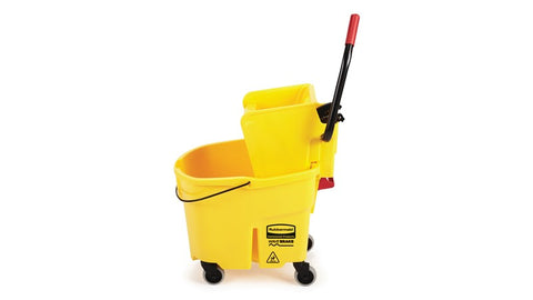 RUBBERMAID - YELLOW WAVEBRAKE SIDE PRESS WRINGER COMBO