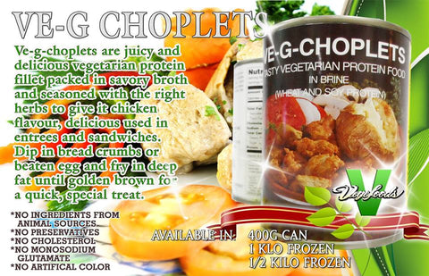 VE-G-CHOPLETS - vegetarian meat - 400g