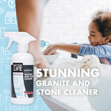 GRANITE AND STONE CLEANER, Pomegranate & Grapefruit, 16oz/ 473ml - Eco Friendly Cleaning Products