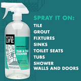 TUB & TILE CLEANER, Tea Tree & Eucalyptus, 32oz/ 946ml - Eco Friendly Cleaning Products