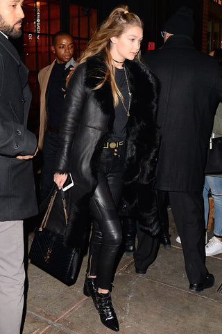 Gigi Hadid Leather Trousers