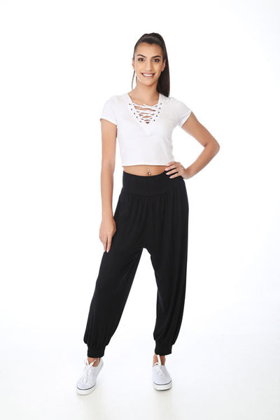 Oh! Pretty Black Harem Ali Baba Trousers