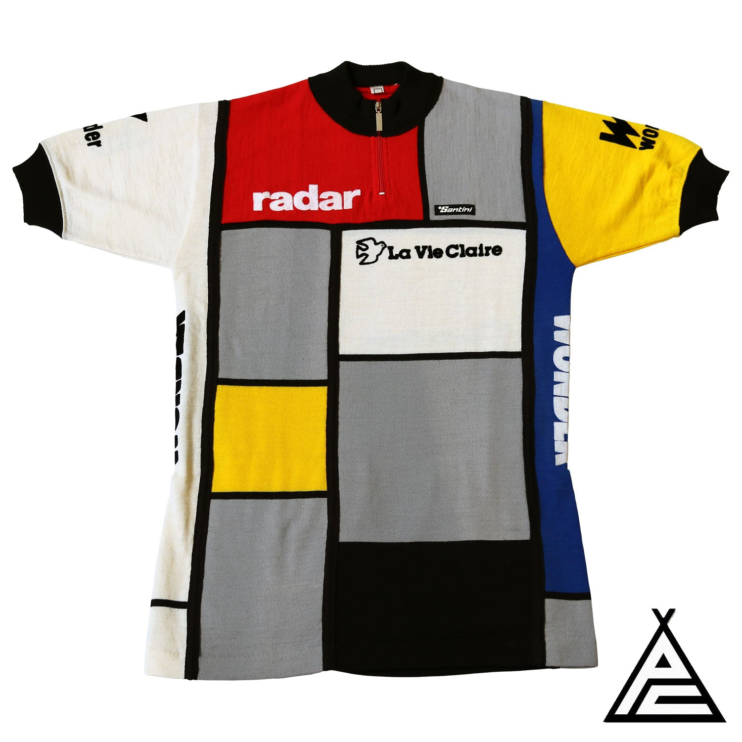 La Vie Claire Radar Wonder 1985 Wool Team Jersey by Santini ... da3a61bbc