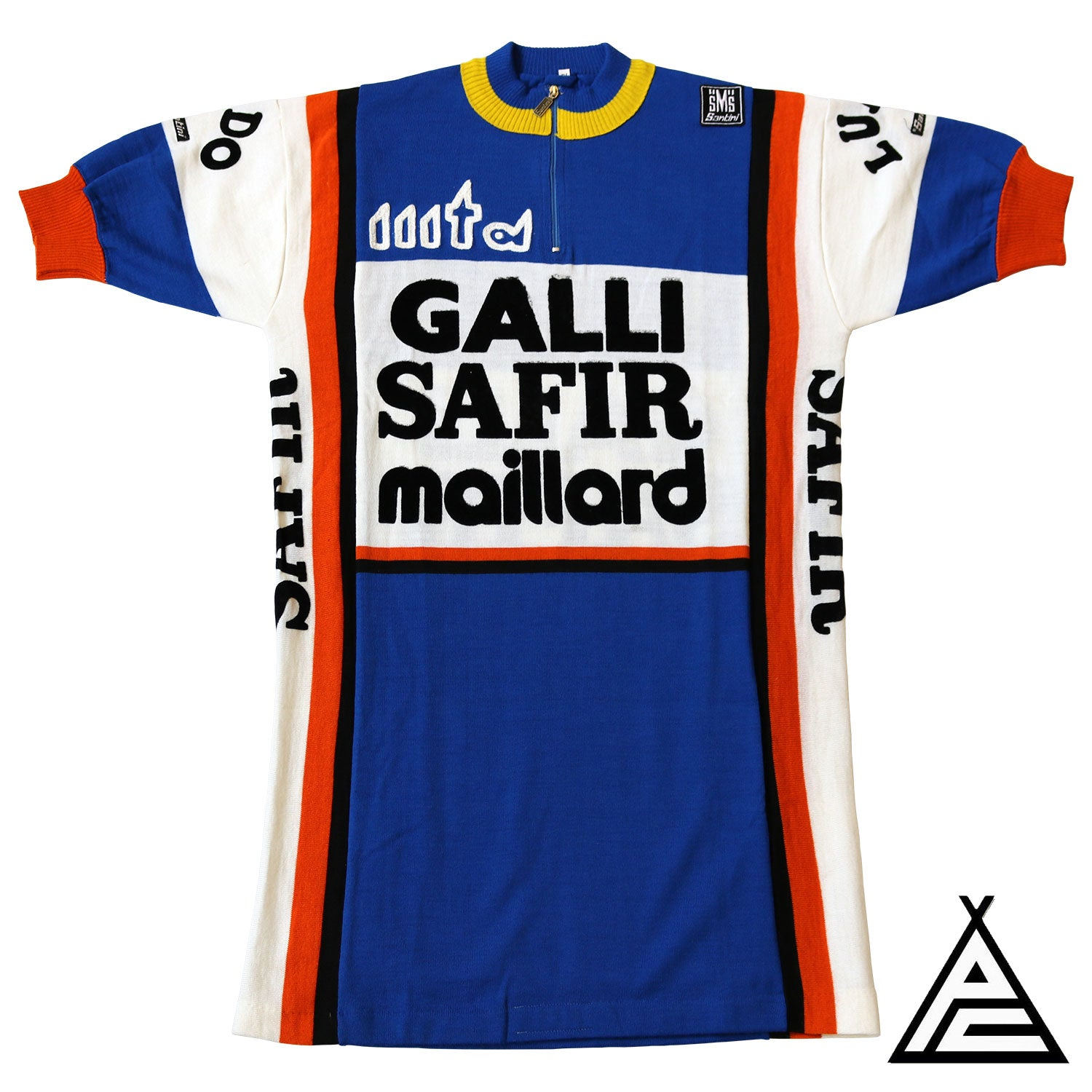 Safir Galli Maillard 1981 Wool Team Jersey