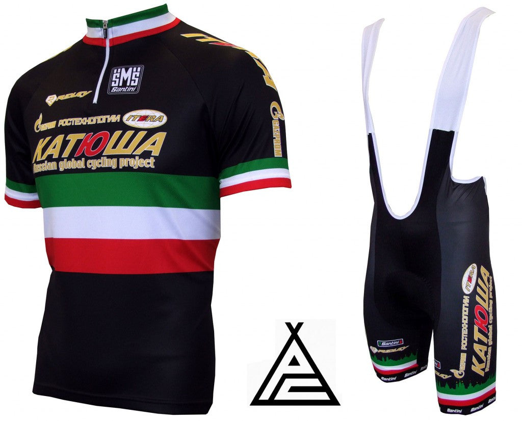Special Edition Filippo Pozzato Italian Champion Jersey and Bibshorts