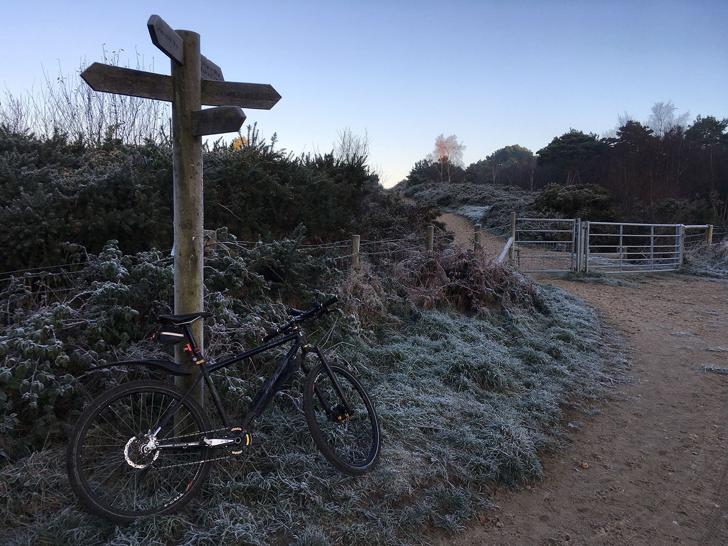 Between Christmas and New Year with some more relaxed start times I often add in an extra 30 minutes to encompass some extra miles - this is taken over Canford Heath - part of the Bourne Valley Greenway.