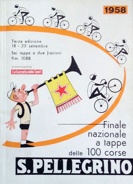 A postcard advertising the 100 Corse San Pellegrino from 1958.