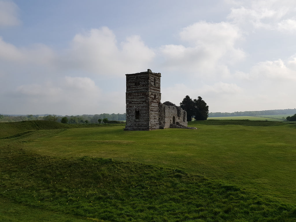 Knowlton Church and Earthworks, maintained by English Nature.