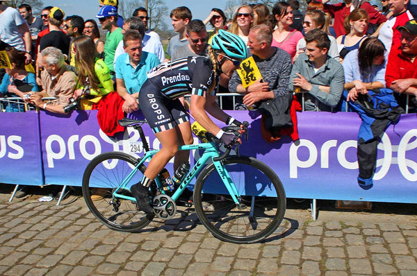 Jennifer George (Drops Cycling Team) in action during the Tour of Flanders.  Photo: John Pierce / PhotoSport International. uk usa asia.