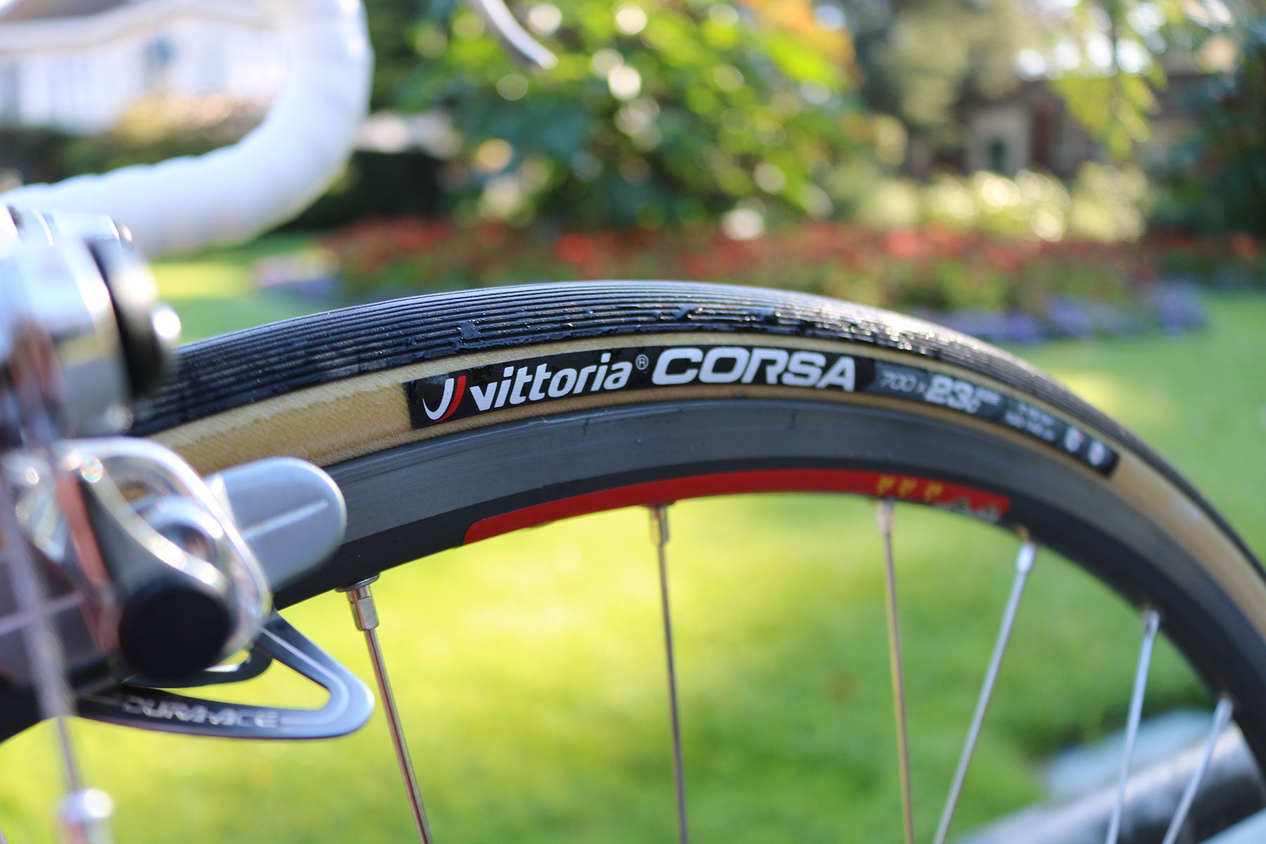 Vittoria Competiton Corsa fitted to the Mavic Open Pro rims.