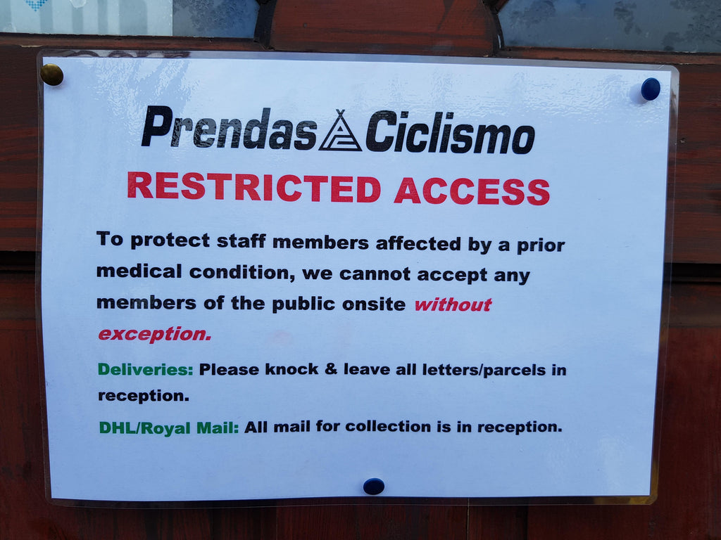 Prendas Ciclismo. Important information regarding restricted access.