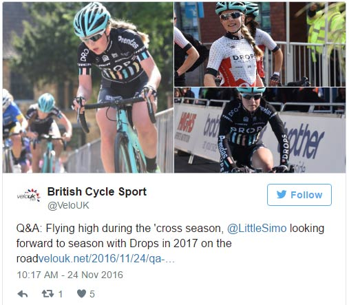 Q&A: Flying high during the 'cross season, @LittleSimo looking forward to  season with Drops in 2017 on the road