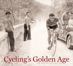 Cover of the hardback version of Cycling's Golden Age by Velopress.