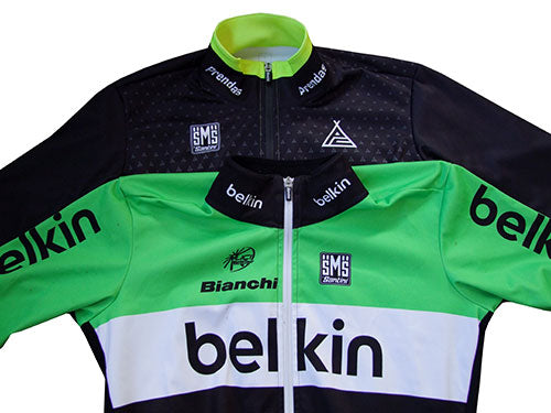 Photograph showing the Belkin Team Issue garment that our own REEF jersey is based on.